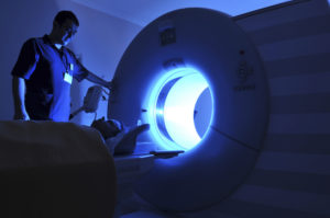 CT Scanner with patient